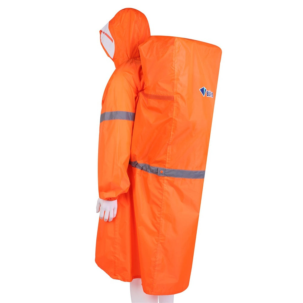 Costbuys  Outdoor Camping Hiking Backpack Rain Cover Raincoat Poncho M/XL - Orange / M