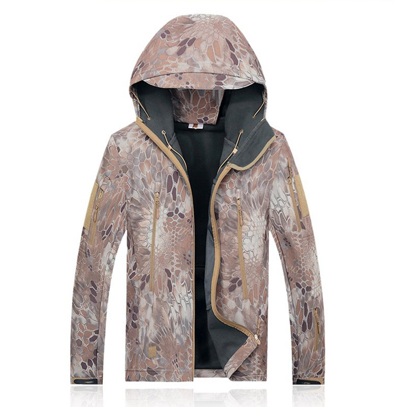 Costbuys  Outdoor Gear Softshell Jacket For Outdoor Hunting Camping Fishing Hiking Waterproof Army Jacket Camouflage Kryptek Cam