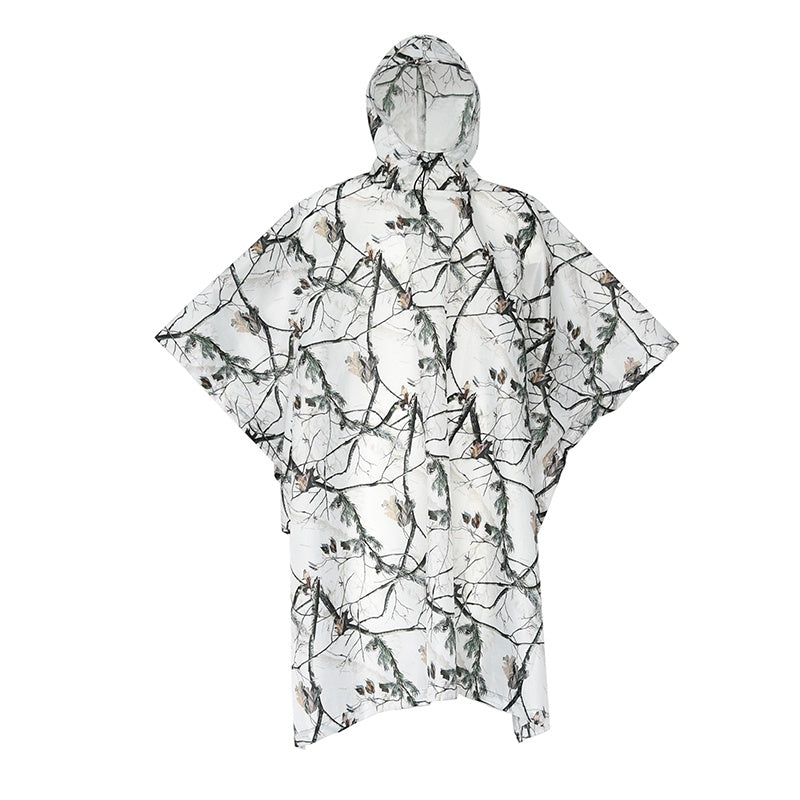 Costbuys  Outdoor Multi-Functional Sports Impermeable Rainwear Skiing Cycling Snowy Camouflage Travel Camping Jacket - White / O