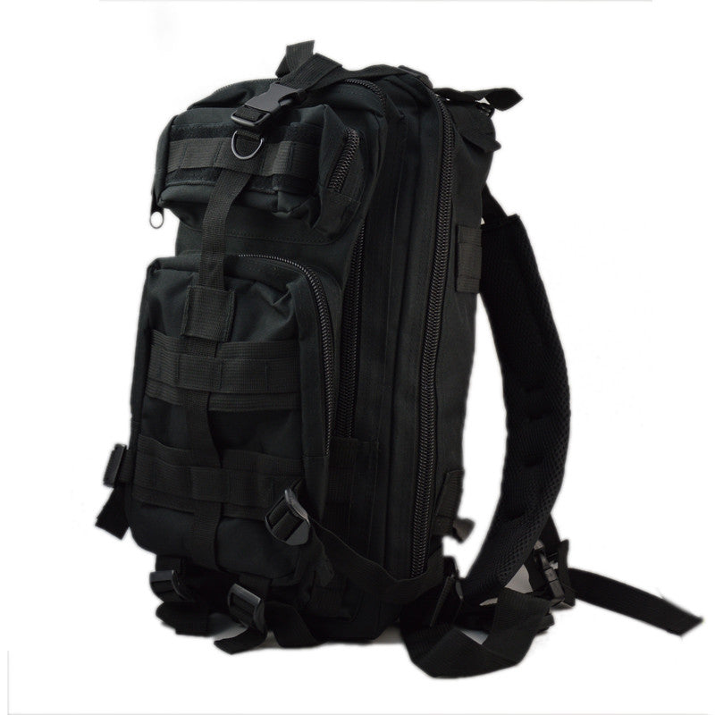 Costbuys  Outdoor Sports Tactical Backpack Camping Men's Military Bag 1000D Nylon For Cycling Hiking Climbing 25L - Black Color