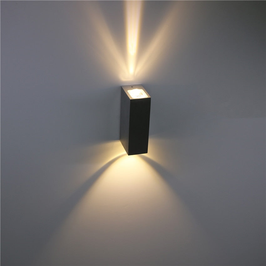 Outdoor Waterproof Wall Lamp IP65 6W LED Wall Light Outdoor/Indoor Decoration Bedroom Beside Lamp Corridor Garden Lighting NR-27