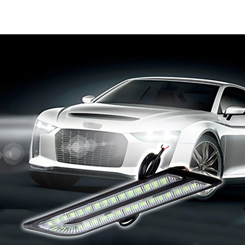 Costbuys  1Pair Car LED Fender Side Turn Signals For Universal car Accessories LED Marker Lights 12V DRL LED Fog Lamp Bulb styli