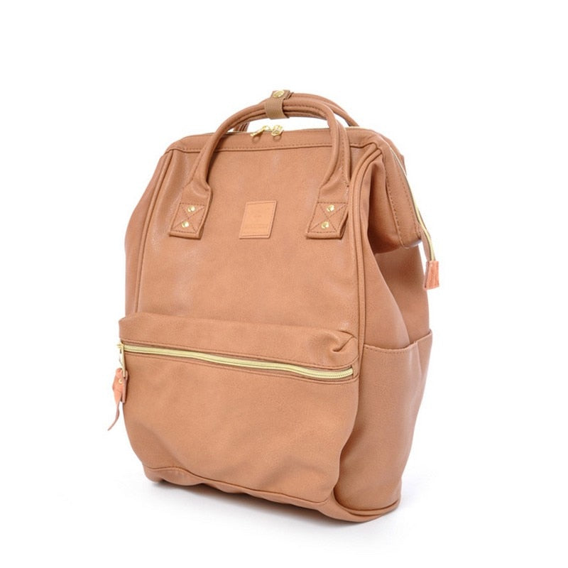 Costbuys  PU leather Japan School Backpacks For Teenage Girls&boys School Backpack For School College Bag For Women a Ring Backp