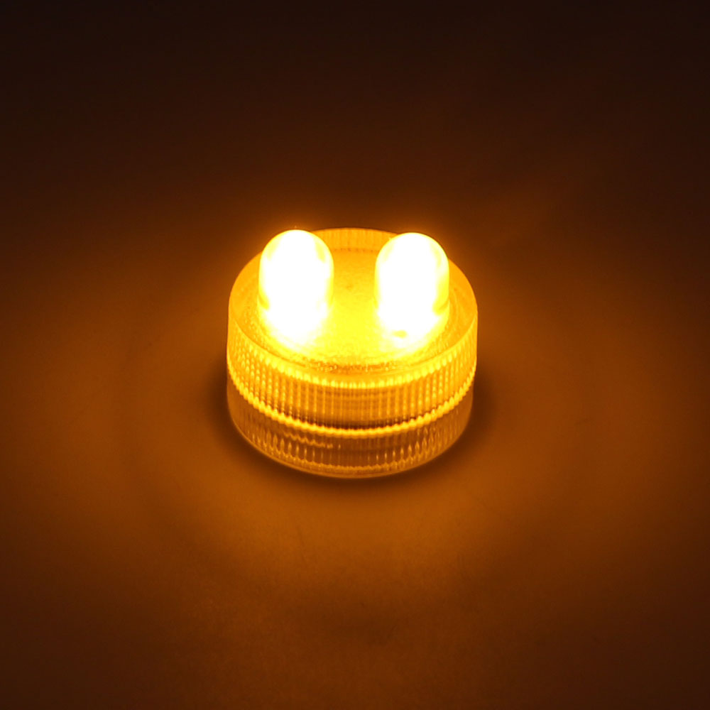 Costbuys  Paper Lantern Light Tea Light Holiday Lighting Candles Lamp Waterproof Submersible LED Home Decoration - Yellow
