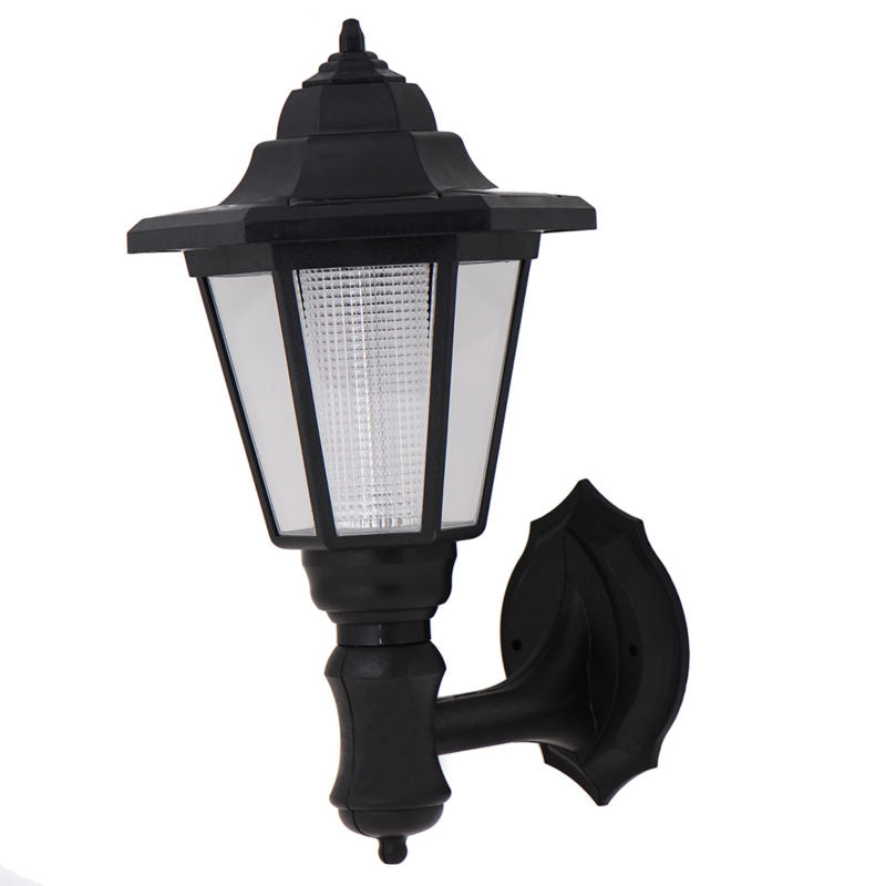 Costbuys  Path Way Landscape Solar Power LED Lamp White Warm White Color Solar Light Wall Mounted Light Garden Decoration outdoo