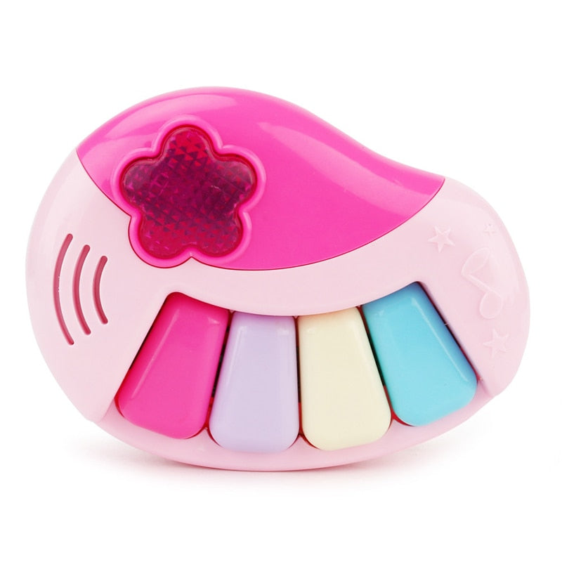 Costbuys  Pink Baby Kids Musical Light Educationa Carton Piano Developmental Music Toys For Children Instrument Learning - 1