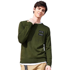 New arrival autumn Sweaters men brand clothing letter printed casual pullover male quality blue green AMS705188
