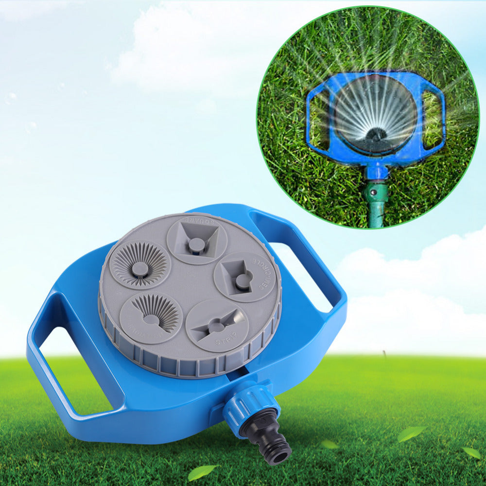 Costbuys  Plastic Spray Nozzle 5-Function Sprinkler Garden Automatic Rotation Watering Head Plants Watering Gardening Supplies