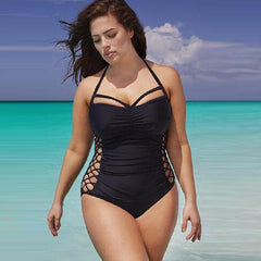 Bandage swimwear women Push Up One Piece Swimsuit Black Sexy Hollow Bath Suit Summer Beachwear Body Suit