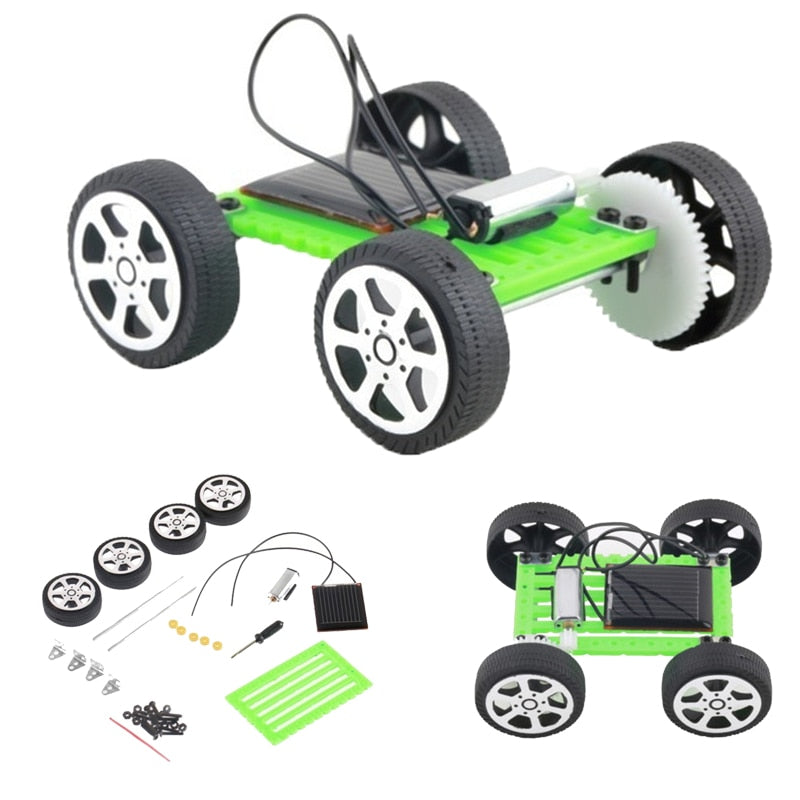 Costbuys  Pop DIY Robot Solar Power Mini Powered Toy Car Kit Moving Racer Children Educational Teaching Hobby Creative Solar Car
