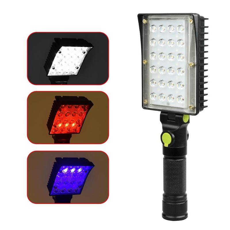 Costbuys  Portable 24COB+18 LED Work Light 4 Mode Inspection USB Portable Working Lantern Warning Light 4 Mode Inspection Lamp W