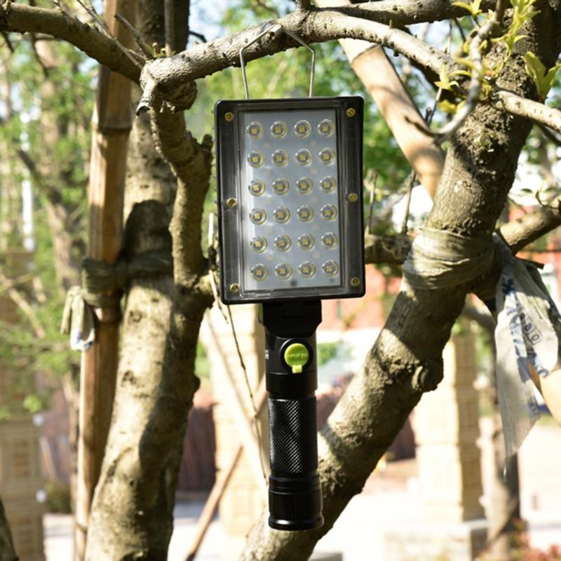 Costbuys  Portable 24COB+18 LED Work Light 4 Mode Inspection USB Portable Working Lantern Warning Light Aluminum Alloy Work ligh