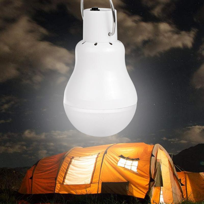 Costbuys  Portable Lantern Solar LED Bulb Lamp 140LM 12 LED Rechargeable Outdoor Night Light Emergency Camping Tent Light