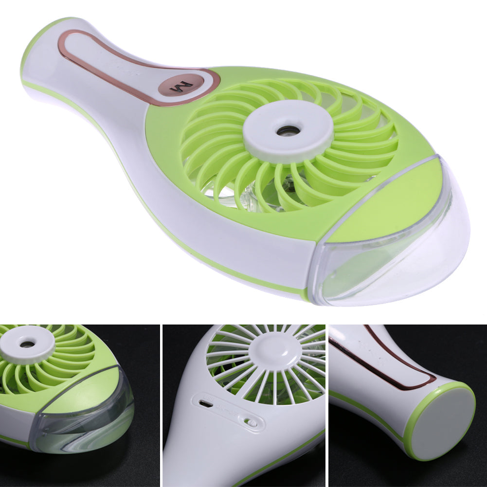 Costbuys  Portable Mini-Combo Humidifier Fan Usb Rechargeable Water Spray Small Fan Creative USB Gadgets Foldable Cooler Fan - A