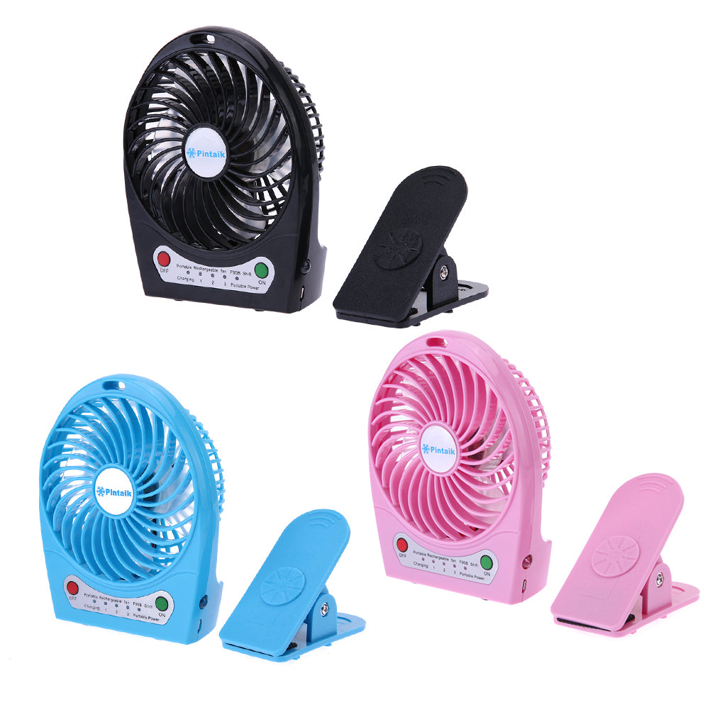 Costbuys  Portable Mini USB Charging Fan Rechargeable Desk Fan Air Cooler Mini Operated Desk USB Gadget Fan with High Quality Cl