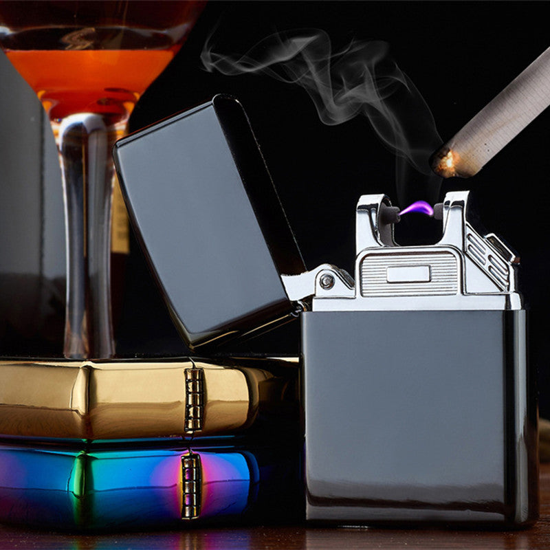Costbuys  Portable USB Electronic Lighter Jet Torch Lighter Rechargeable Windproof Plasma Arc Lighter Flameless Encendedor Gadge