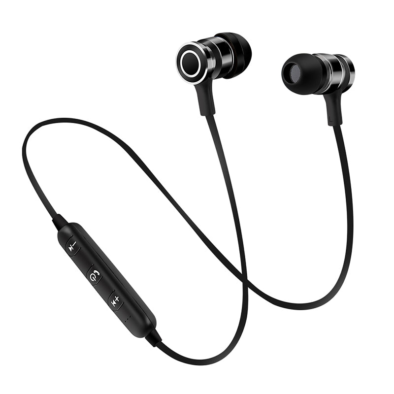 Costbuys  Portable Wireless Bluetooth Earphone Mini Earbuds Stereo Bass Magnet Music Handsfree Headphone for smartphone NEW - Bl