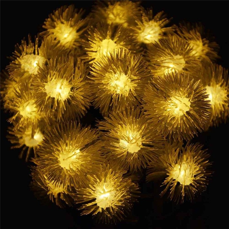 Costbuys  Premium Quality Waterproof Christmas Solar Light String 20LED Chuzzle Ball Solar String Outdoor Lights for Home Garden