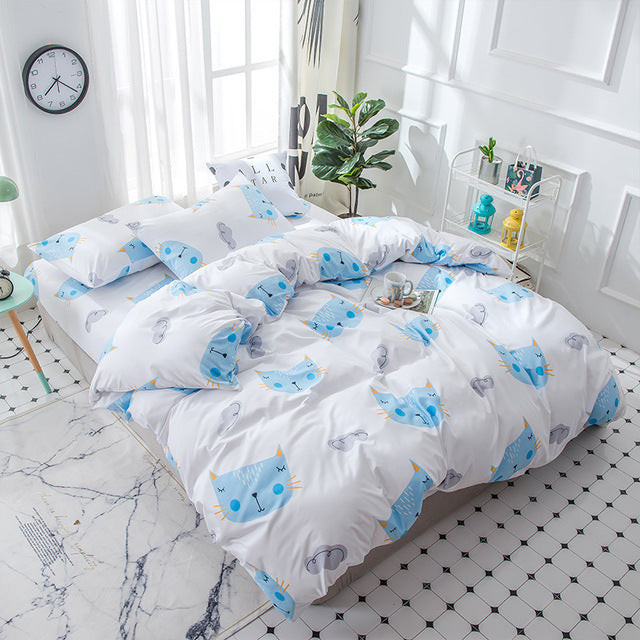 Costbuys  Prinnted Home Textile Printed Bedding Set Bed Cover Bed SheetBoy Girl Kid Teen Duvet Cover Pillowcase Bed Linen Bedclo