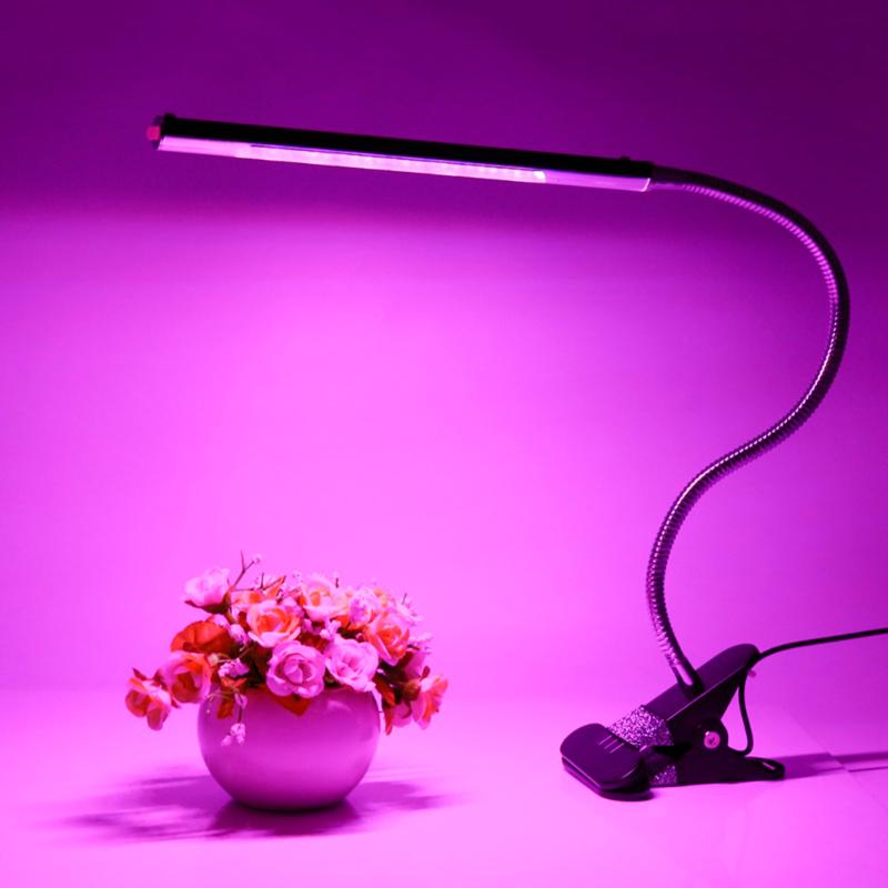 Costbuys  Professional 5W 24 LED Plant Growing Light Indoor USB Clamp Plant Growth Desk Lamp Adjustable Hydroponic Plant Grow Li