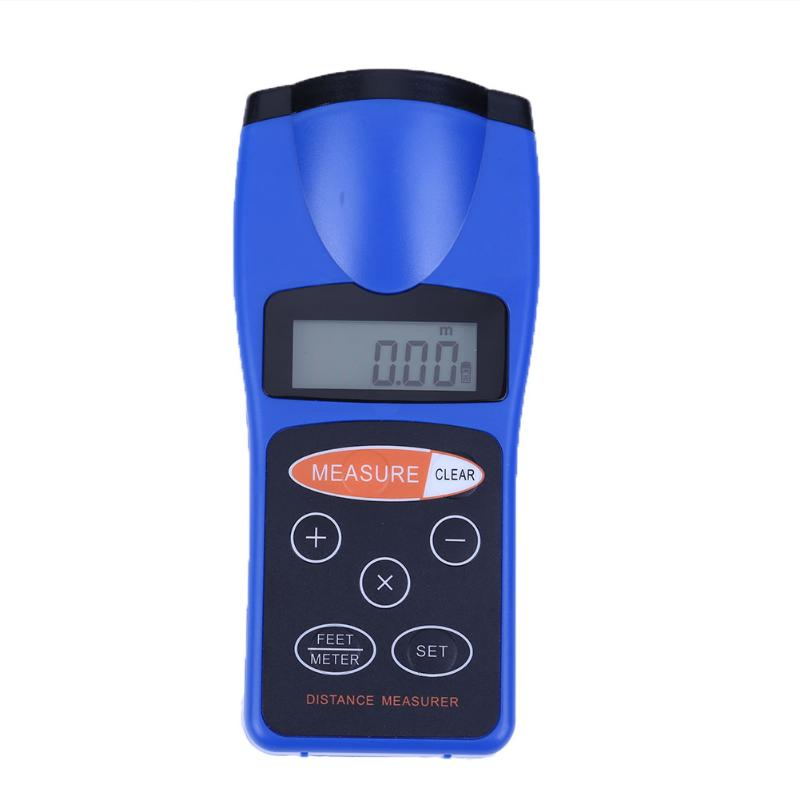 Costbuys  Professional Laser Distance Meter Multifunctional LCD CP-3008 Ultrasonic Distance Measurement Meter Range Finder(Blue)
