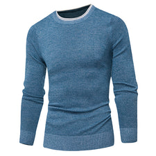 Pullover Men Casual Sweater Men Solid Color Comfortable Mens Christmas Sweater Round Neck Slim Fit pull homme