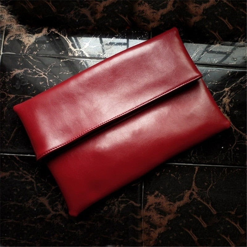 100% Natural Cowhide Bag Genuine Leather Women's Clutch Bag Female Cowhide Envelope Bags Designer Flap Bags