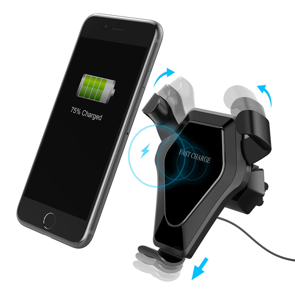Costbuys  Qi Wireless Charger Dock Car Holder Charging Mount Pad For iPhone 8/8 Plus/X  Samsung High Speed Cell Phone Accessorie