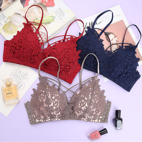 New Lace Bra set 32-42 A B C D Plus Size Bra And Panty Sets Women Intimates Young Girl Underwear Set