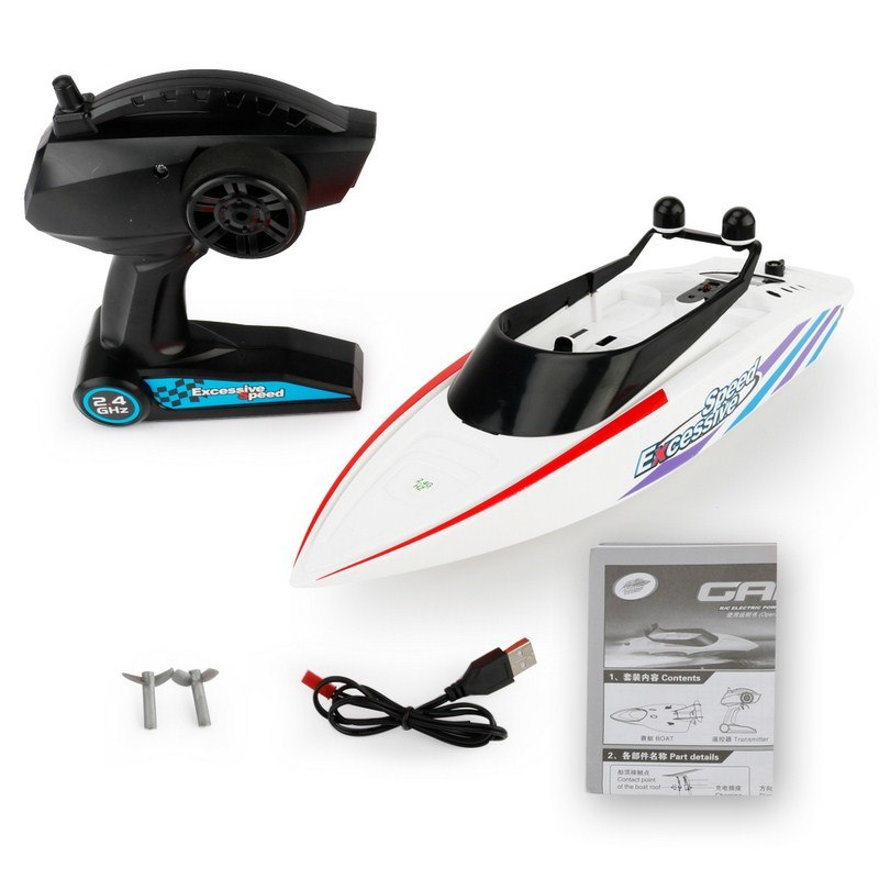Costbuys  RC Boat High Speed 4CH 2.4G Radio Remote Control Boat RC Ship Toy Speedboat Mini Model Boat RC Racing Boat for Childre