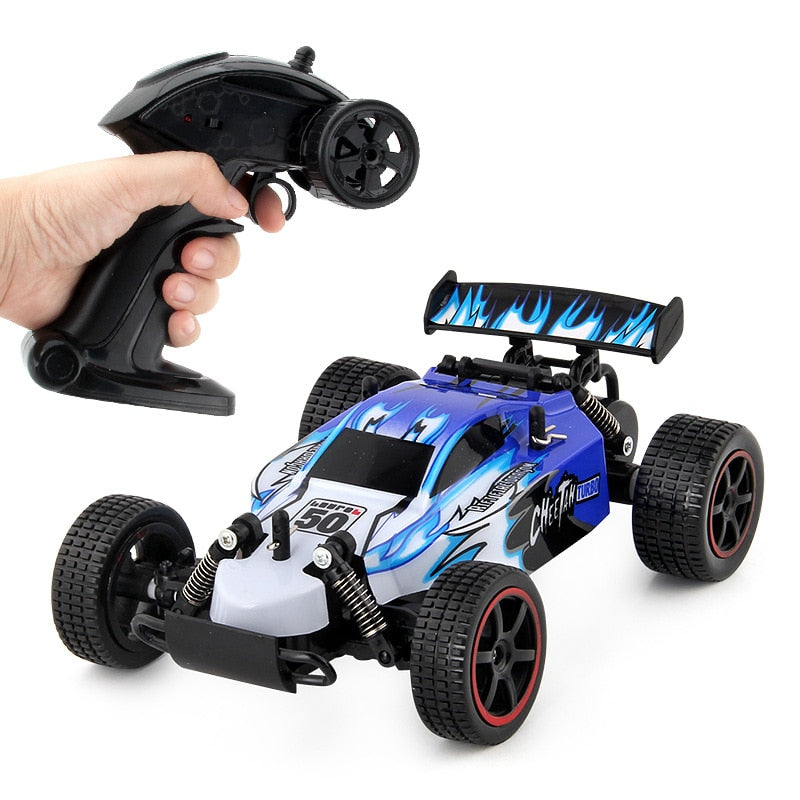 Costbuys  RC Car USB Recharging High Speed Remote Control Car Boys Toys Driving Vehicle Mini Racing Car toys for Children - blue