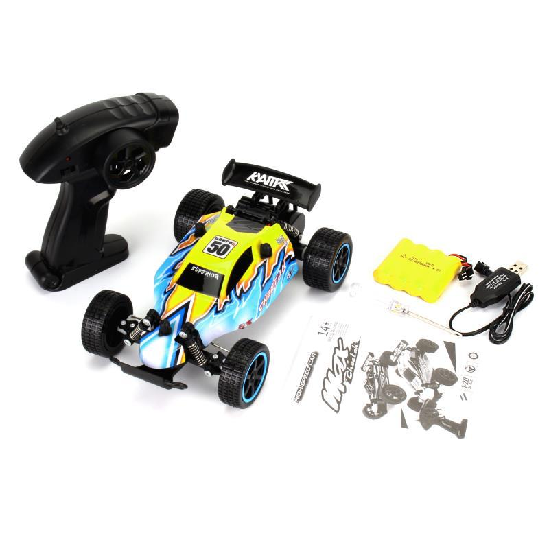 Costbuys  RC Car USB Recharging High Speed Remote Control Car Boys Toys Driving Vehicle Mini Racing Car toys for Children - Army