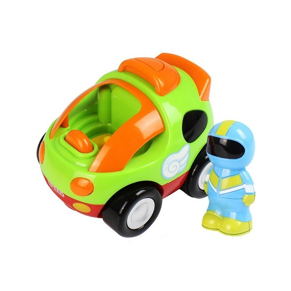Costbuys  RC Car Cartoon Race Cars with Music Lights Electric Radio Control Toys for Children Baby Gift Kids Presents - Green