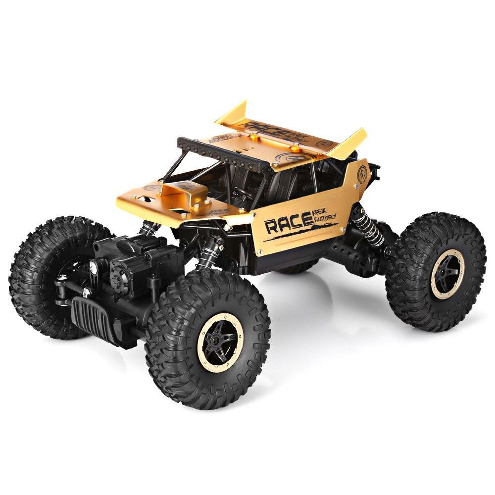 Costbuys  Speed Racing Car Alloy 2.4G 4WD High Speed Climbing Rock Car Racing Off-Road Vehicle Toy Car Remote Control Toys - gol