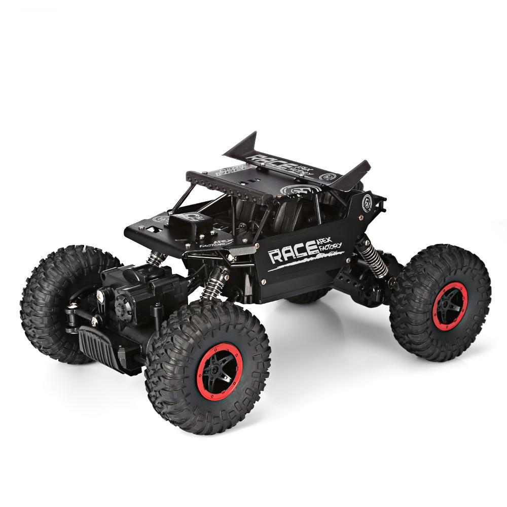 Costbuys  Speed Racing Car Alloy 2.4G 4WD High Speed Climbing Rock Car Racing Off-Road Vehicle Toy Car Remote Control Toys - bla
