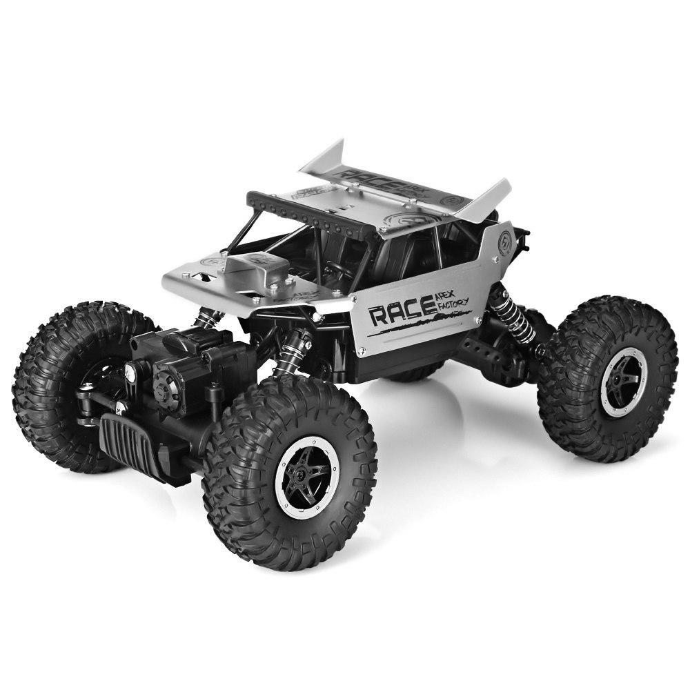 Costbuys  Speed Racing Car Alloy 2.4G 4WD High Speed Climbing Rock Car Racing Off-Road Vehicle Toy Car Remote Control Toys - sil