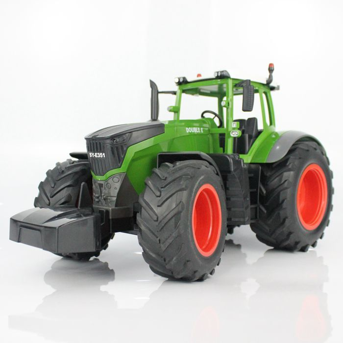 Costbuys  RC Truck Farm Tractor 2.4G Remote Control Trailer Dump/Rake 4 Wheel Vehicle Model Children Toys Hobby - Tractor