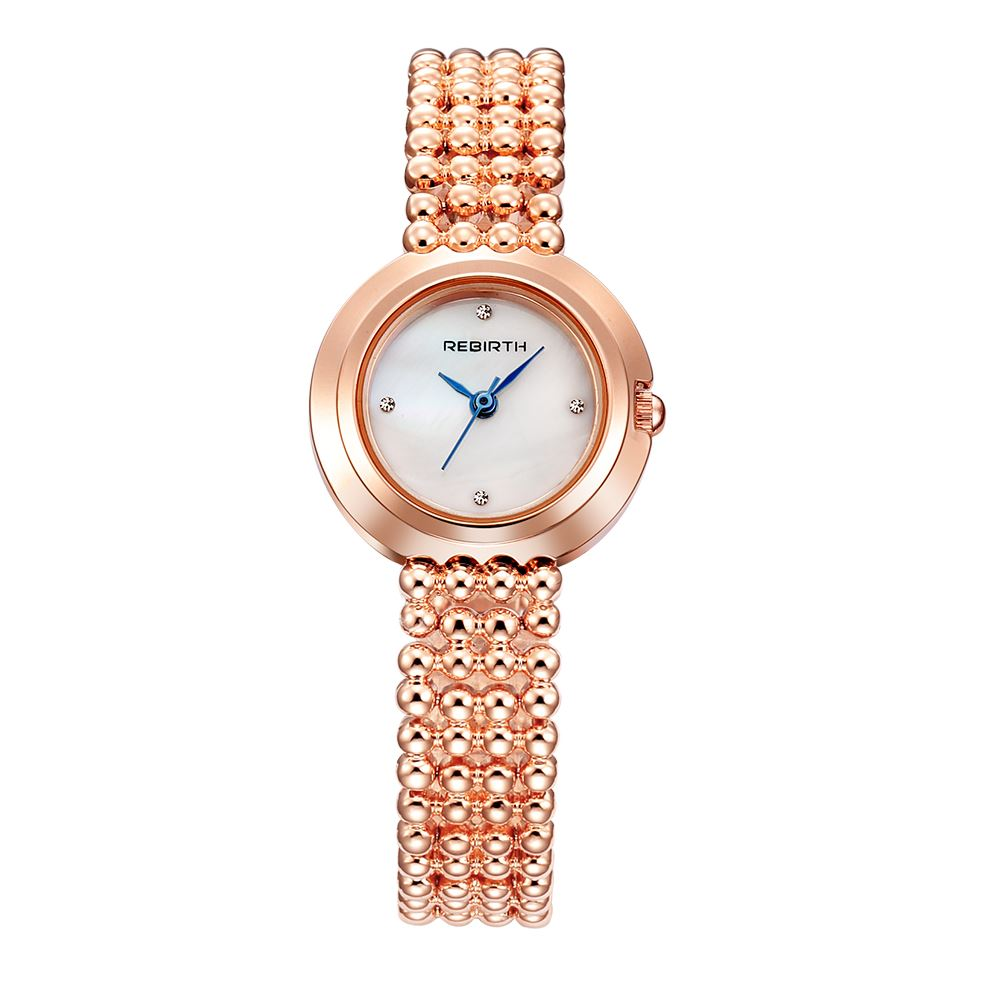 Costbuys  New Women's Watches Pearl Rose Gold Ladies Watch Women Bracelet Wrist Watches Clock relogio feminino saat - Rose / Chi