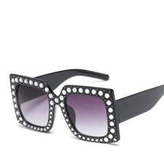 Square Sunglasses Women Retro Designer Oversize Sun Glasses Female Crystal Glasses shades