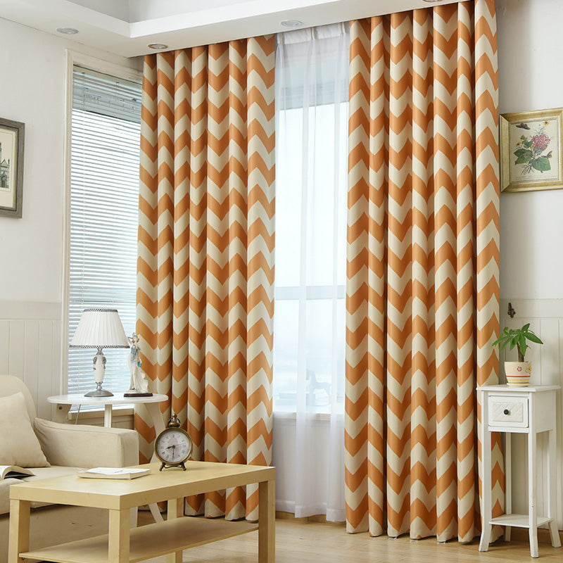 Ready Made Chinese Curtains For Living Room Bedroom Chevron Design Blackout  Curtains Kid Room Curtains Drapes Window Treatments 1