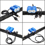 Rechargeable 6000LM 2x XM-L T6 LED Head Front Bike Bicycle light headLamp Head Torch Flashlight Handlamp