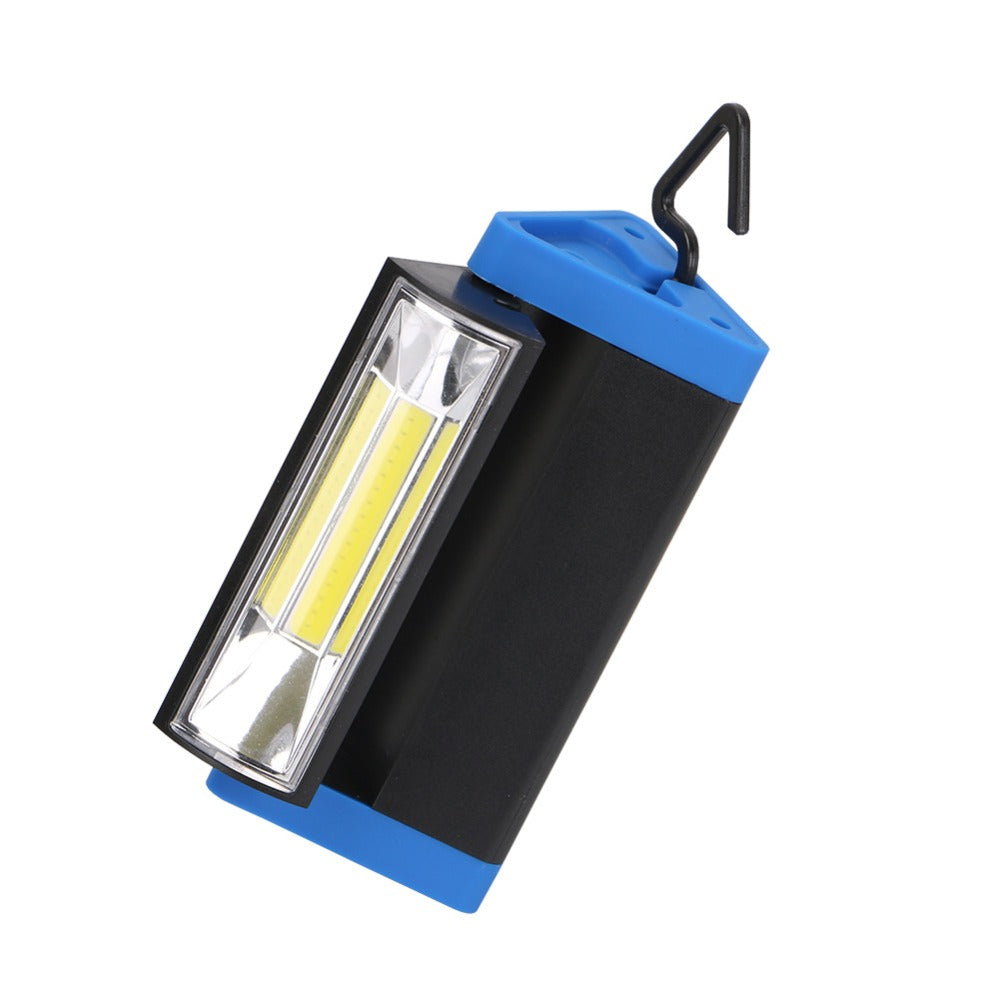 Costbuys  Rechargeable COB Light Strip Flashlight 1 Mode Work Light Torch with Magnet and Hook Mobile Power Bank For Your Phone+