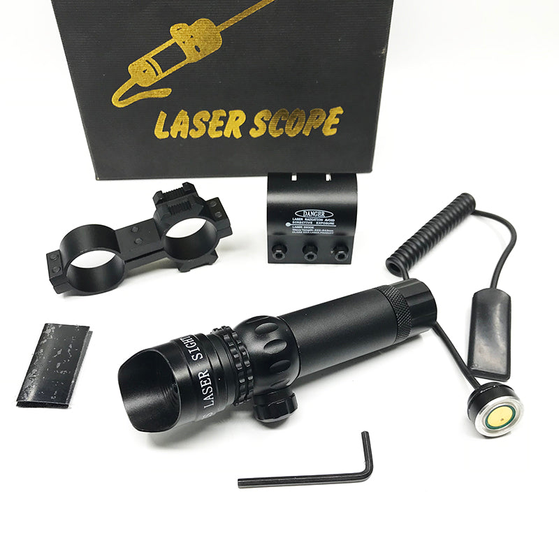 Costbuys  Red Greed Laser Sight Scope Tactical with 20mm Picatinny Rail Mount Barrel Mount for Rifle Scope Para Airsoft Shotguns