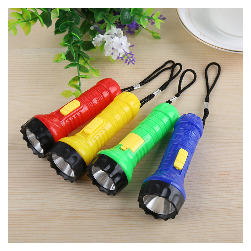 Costbuys  Red Yellow Green Blue flashlight LED flash light (button battery not included ) - White / Yellow