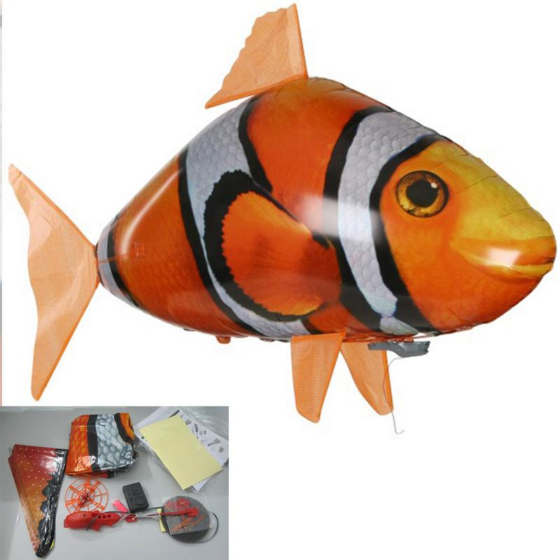 Costbuys  Remote Control Shark Toys Air Swimming Fish Infrared RC Flying Air Balloons Clown Fish Kids Toys Gifts Party Decoratio