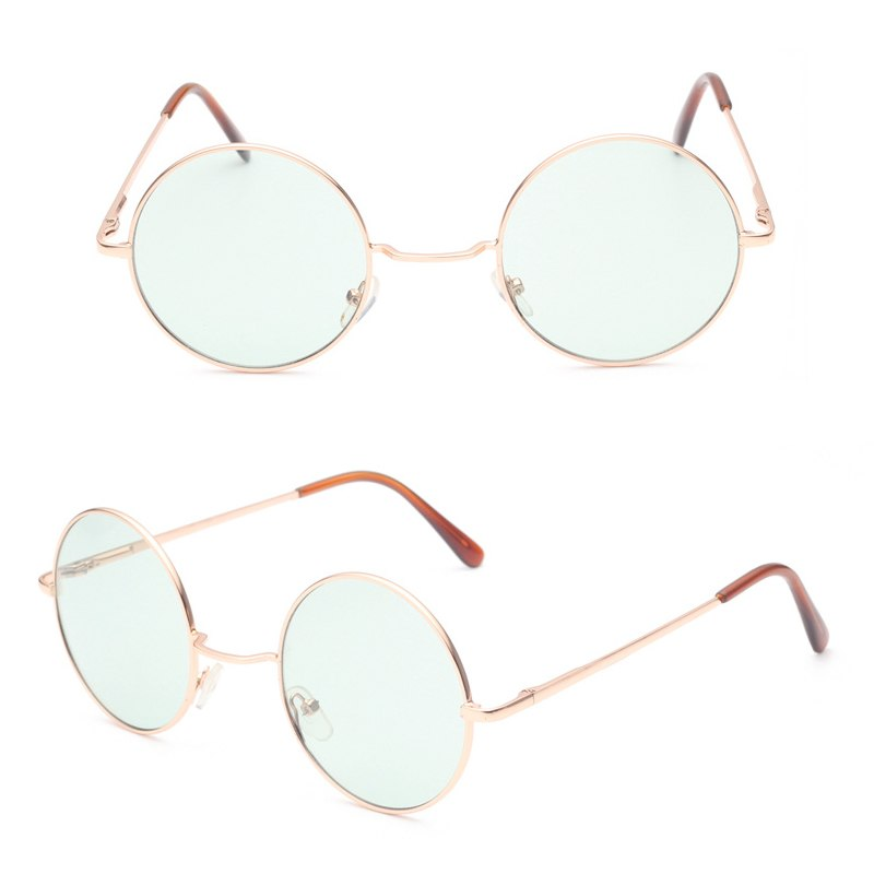 Costbuys  Retro hippie Metal Lennon round sunglasses women Metal frame circle round tinted lens sunglasses Super hippie chic sty