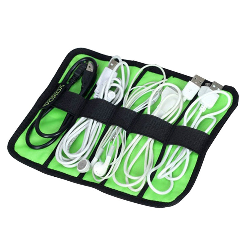 Costbuys  Roll Storage Travel Bag For Digital Gadget Devices USB Cable Earphone Pen Electronics Accessories Travel Bags Organize