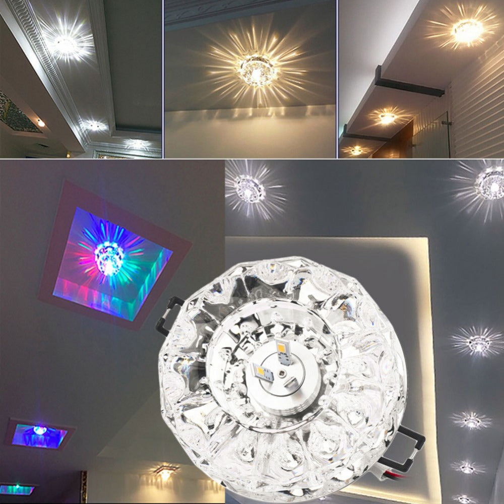 Costbuys  Romantic LED Lamp Light Ceiling Porch Hallway Corridor TV Background Wall Lamp Living Room Indoor Lighting - pure whit