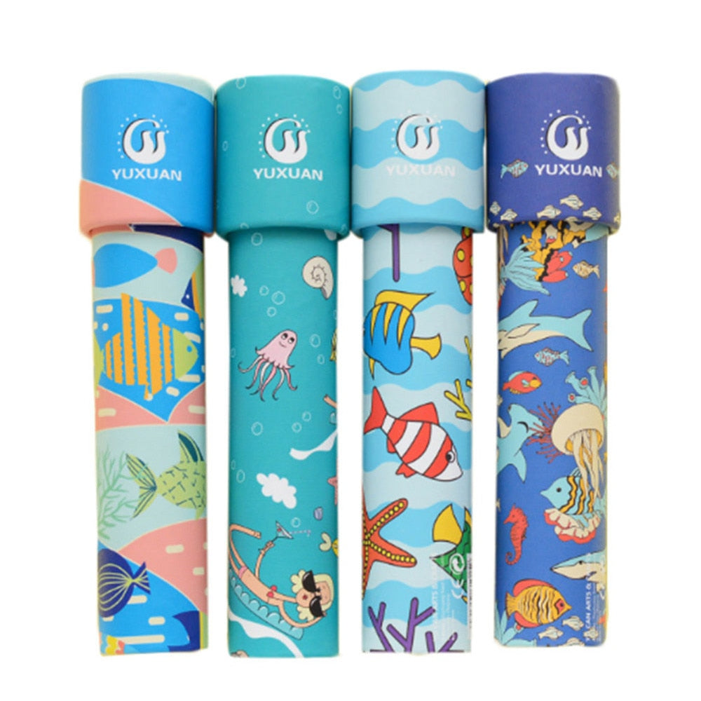Costbuys  Rotating Wooden kaleidoscope Rotation Fancy World Baby Toy Kids Autism Kid Toy Child Toy Jouet Enfant Baby Toys For Ch
