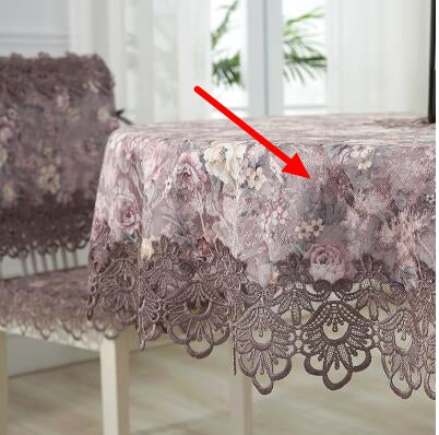 Costbuys  Round table cloth cloth art table cloth super large table cloth lace Chinese American luxury - Color 2 / 85cm x 85cm